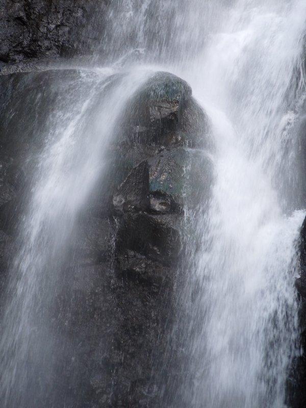 Tahitian waterfall