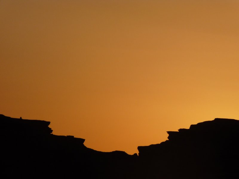 Sun set at Wadi Rum
