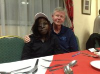 Janet Auma joined us for supper tonight