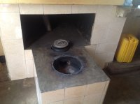 kitchen stove with chimney . . . prevents eye problems and respiratory diseases