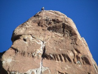 climber nears summit