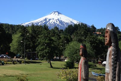 A sunny day in Pucon - great views of the Volcan Villarica...and some random Indians too!