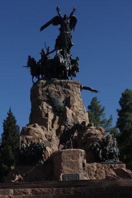 Statue overlooking Mendoza