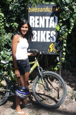 All geared up for the Bike n Wine tour