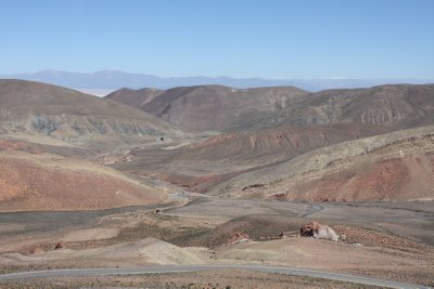From green forests to dry desert...a complete change of terrain