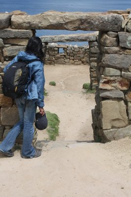 Peek-a-boo! Those Incan ruins were built for small people!
