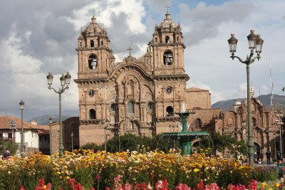 A grand cathedral...built over Inca ruins