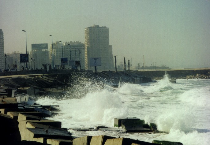 waves ,Alexandria sea