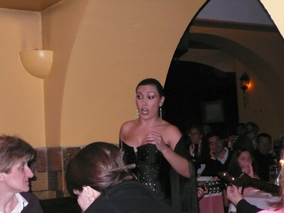 One of the Fado performer in the restaurant