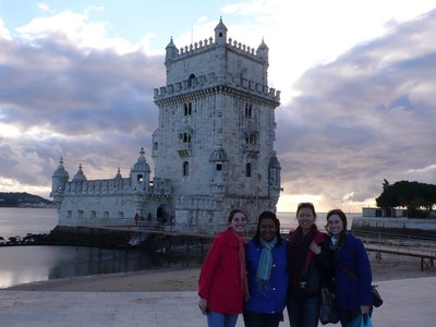 in front of Belém with the crew!