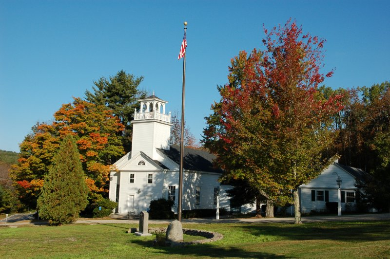 White Steeple Church in New England