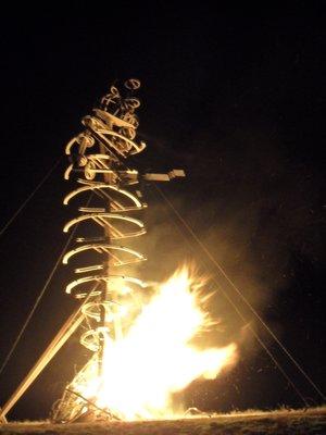 Kiwiburn Burning Cow