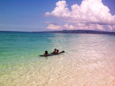 playtime at puka beach, a tricycle away from White Beach of Boracay, 25pesos each