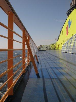 On a ferry to Helsinki