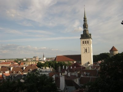 Old Town of Tallinn from above