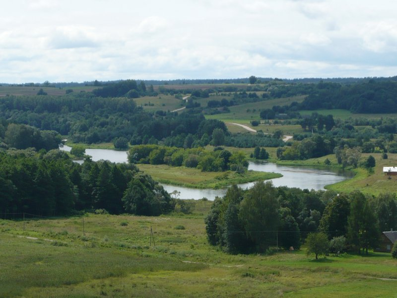 River Neris: the view from the hillforts in Kernave