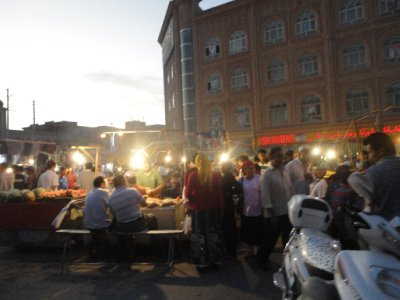 Kashgar Night market outside the Mosque