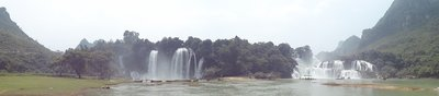Detian Falls. (On the right, we have Vietnam, on the left; China.. everyone give them a round of applause!)