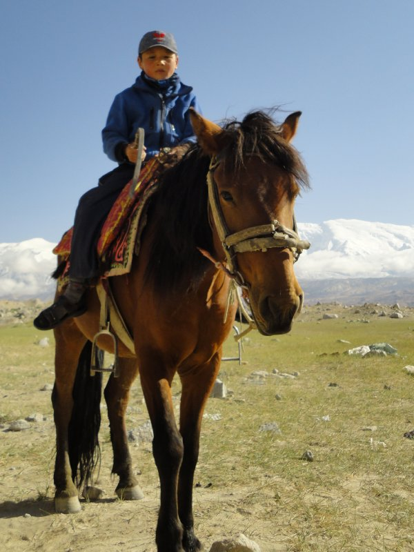 Kazak boy on Horse (Karkurli Lake)