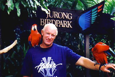 """Mike at Singapore's Jurong Bird Park"""