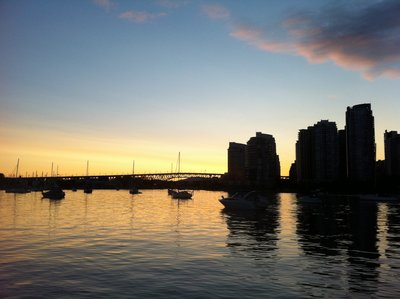 Sunset from Vancouver Seawalk