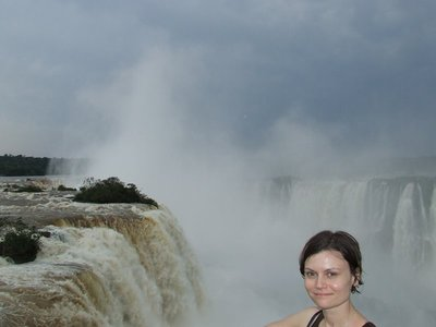 Rebecca at Iguacu Falls