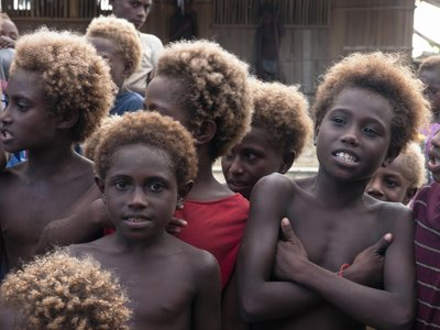 Village children on Ungalik atoll, PNG