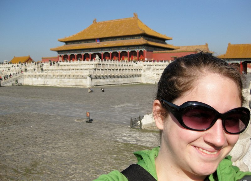 Travelling solo at the Forbidden City in Beijing