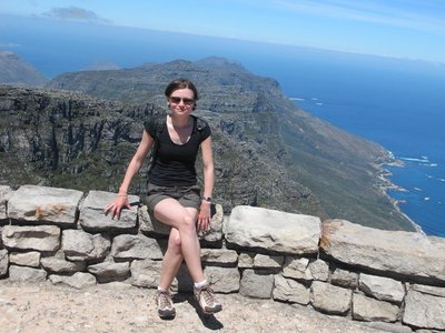 Rebecca at the top of Table Mountain