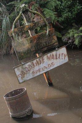 Paradise Sunken Signage