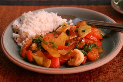 Stir-fry Chilli Prawns, My Favourite Dish of the Day