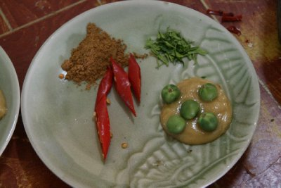 Herbs and Spices for the Penang Curry