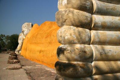 8 Metre High Feet of the Reclining Buddha
