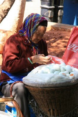 old Woman Selling Duck Eggs