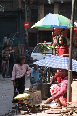 Hawkers on the Streets of Thamel