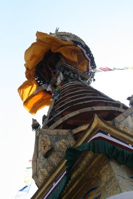 Peak of Stupa in Thamel