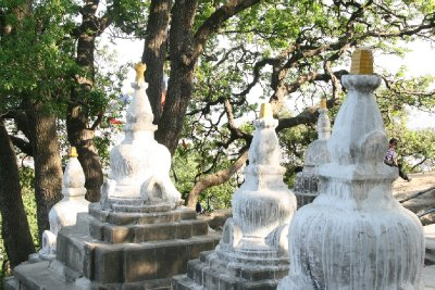 Stupa Statues at Entrance of Monkey Temple