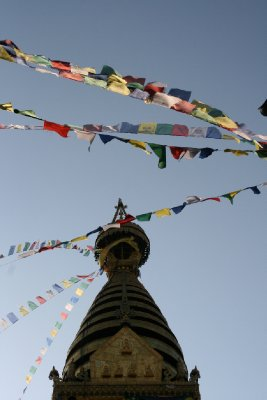 Prayer Flags at Monkey Temple