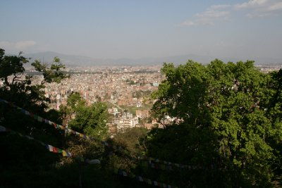 Kathmandu from Monkey Temple