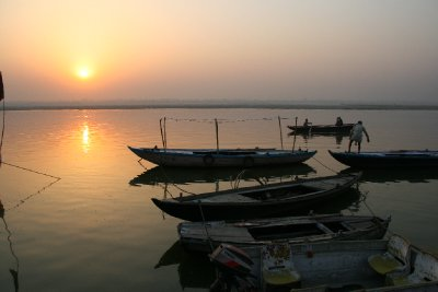 Boats Moored on the Ganges