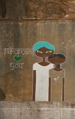 Grafitti on the Ghats