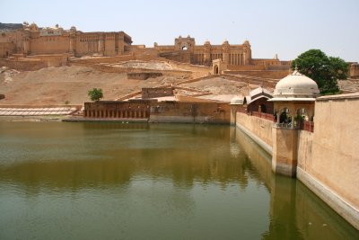 Pond at the Entrance of Amber Fort