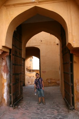 One of the Many fortified Gates to Amber Fort