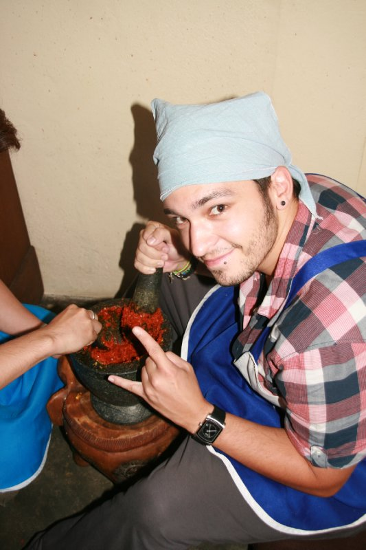Making the Curry Paste