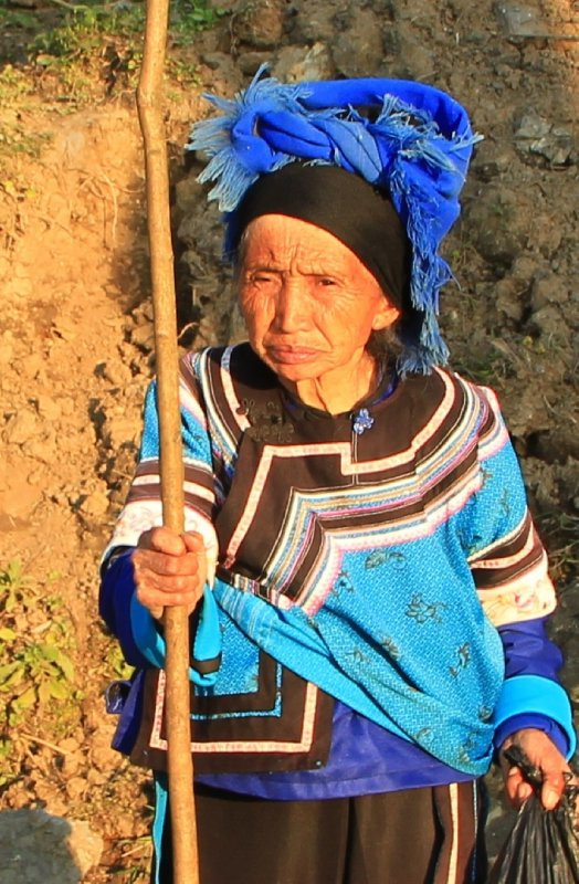 Hani Hilltribe Woman - she must be at least 150!