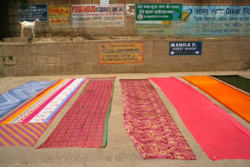 Fabric Drying After 'Ganges Wash'
