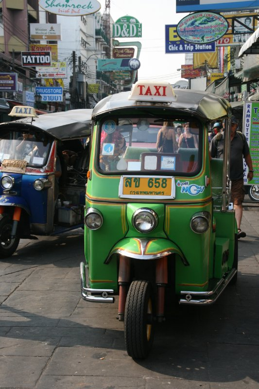 Tuk Tuk Taking a Break on Khosan Road