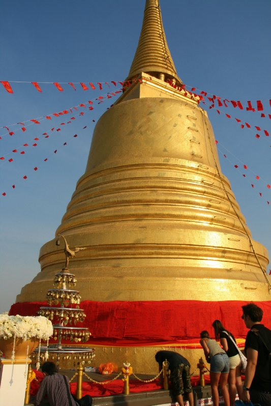 Enormous Golden Chedi at the Top of Golden Mount