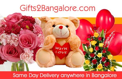 Same day delivery of Valentine's Day gifts anywhere in Bangalore