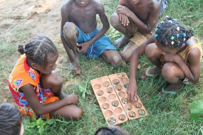 Children playing bao